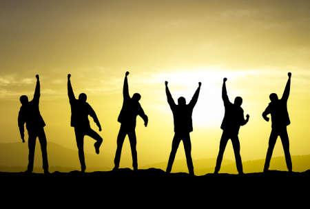 Gewinner auf die Gebirgsober Sport und aktives Leben-Konzept
