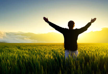 Silhouette von einem Gewinner Sport und aktives Leben-Konzept