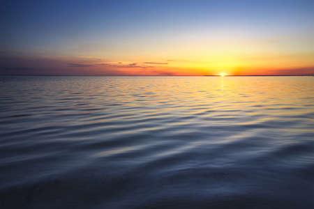 Seascape during sunset. Natural summer seascape