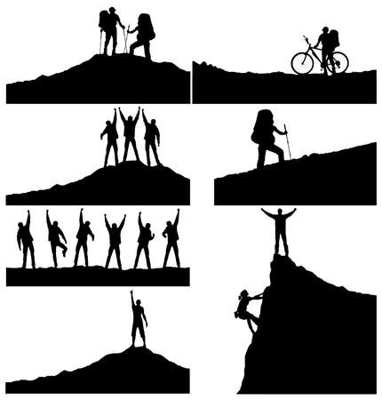 Set of a silhouettes. Active life concept