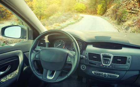 View from car inside. Concept and idea