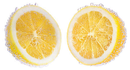 lemon: Lemons and air bubbles. Healthy and tasty food