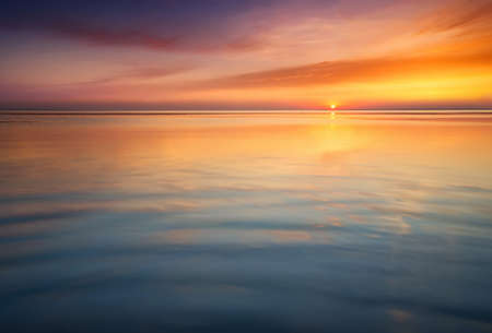 tranquil: Seascape during sunrise. Beautiful natural summer seascape