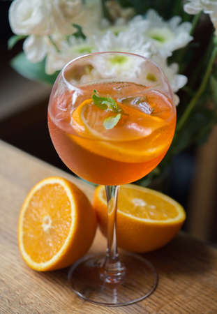 sweet vermouth: Drinks background Stock Photo