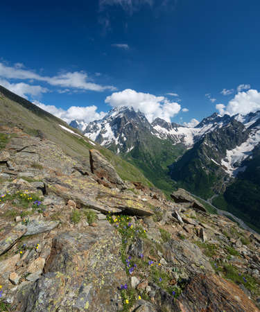 Mountain ridge in the summer time. Beautiful natural landscape Stock Photo