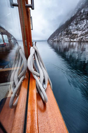 Walk on the boat on the lake. Travel and adventure in the Germany. Reflection on the water surface. Travel - Germany