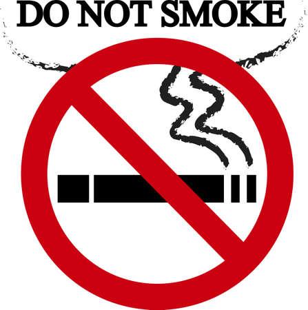 Rook geen bord Vector Illustratie