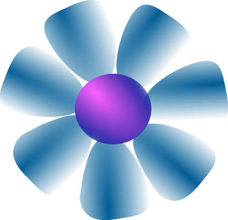 flower Vector illustration isolated on white background.