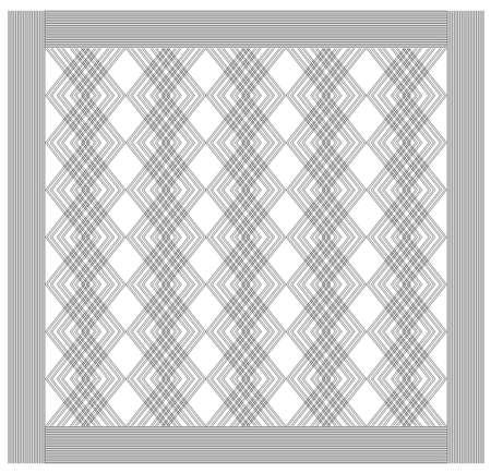 Geometric pattern, ornament with black lines 벡터 (일러스트)