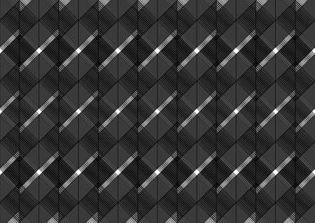 Seamless pattern ornament vector with black lines. Abstract pattern design with geometric black lines. Pattern with rhombuses and diagonal lines. Textile ornament, geometric pattern background.