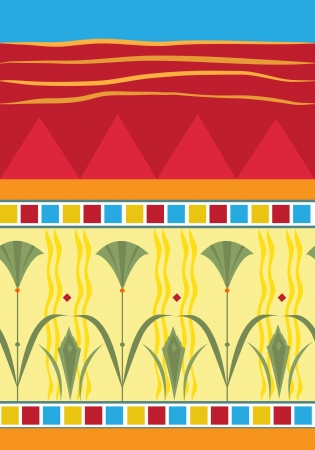 Papyrus Pattern -  illustration of a colorful papyrus pattern.  向量圖像