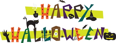 halloween spider: Happy Halloween Illustration