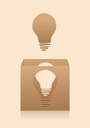 Denken buiten de box - Conceptuele illustratie van het denken buiten de doos