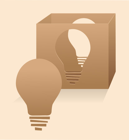 Creative Thinking - Conceptual illustration of thinking outside the box  Eps10 Illustration