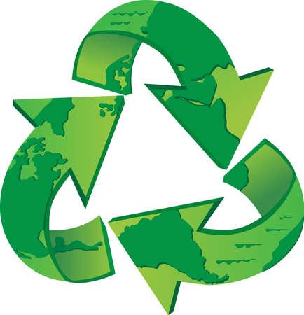 世界のリサイクル - リサイクルの世界地図の記号 Eps10