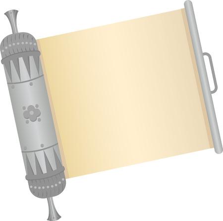 Scroll - An open decorative silver scroll
