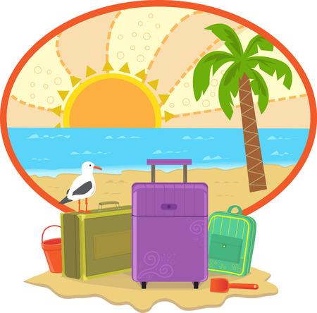 Cute vacation icon  Ilustração