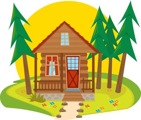 log cabin: Cabin Icon  Illustration