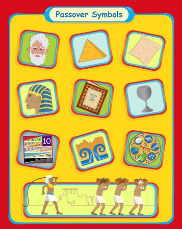 Passover Symbols  Vector