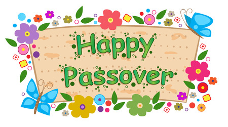 Floral Passover Banner  - Happy Passover banner with flowers  Eps10 Vector