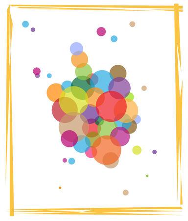 Colorful Dreidel - Dreidel made out of colorful circles. Eps10