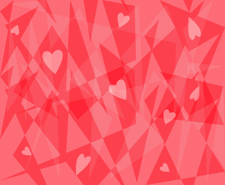 Hearts - Abstract pattern of hearts and shapes. Eps10 Ilustração
