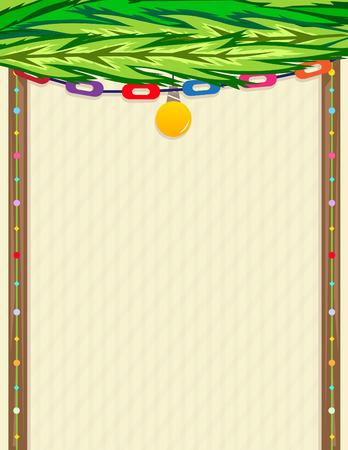 sukkot: Sukkah Note - Decorative blank sign in a shape of sukkah. Eps10