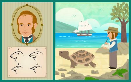 tortuga: Darwin Adventure - Charles Darwin en las Islas Galápagos y el desarrollo de su teoría de la evolución.