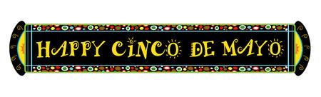 Cinco De Mayo Feestelijke Banner - Kleurrijke Gelukkige Cinco De Mayo horizontale banner.