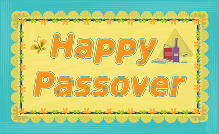 Decorative Happy Passover sign. Eps10 Stok Fotoğraf - 70656552