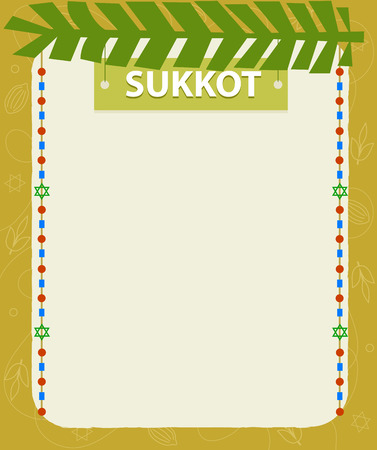 Sukkot holiday decorative blank sign. Eps10 Stok Fotoğraf - 82543439