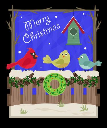 Cute Christmas greeting card Ilustração