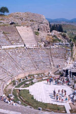 teatro antico: Efeso teatro antico Archivio Fotografico
