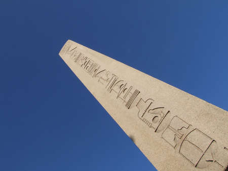 the obelisk: Ancient Egyptian obelisk  Stock Photo