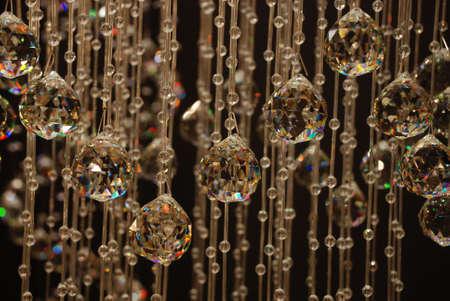 Chandelier with geometric light show Stock Photo - 3558451