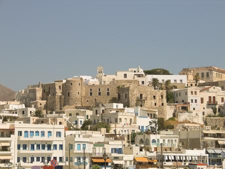 naxos: Naxos view. Greek island in Cyclades. Stock Photo