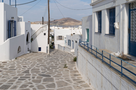 stoned: Paros, Greece, 15 August 2015. Stoned traditional alley at Paros island in Greece in the morning. Editorial