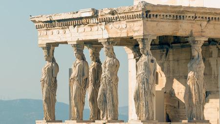 caryatids: Caryatids statues at Acropolis in Greece.
