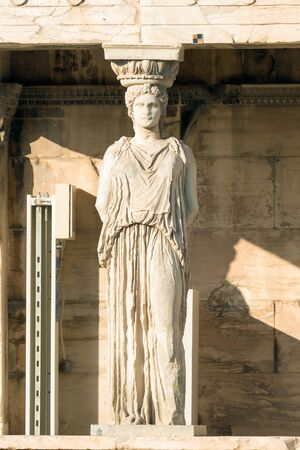 acropolis: Caryatid portrait at Acropolis in Greece.