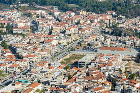 nafplio: Top view of the city of Nafplio in Greece.