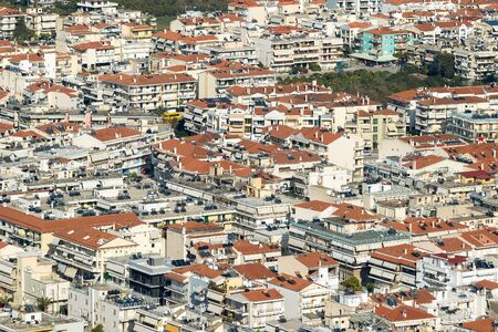 nafplio: Aerial view of the city of Nafplio in Greece. Stock Photo