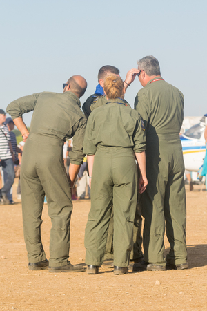 hellenic: Athens, Greece 13 September 2015. Hellenic air force team is ready for the Athens flying week show. Editorial