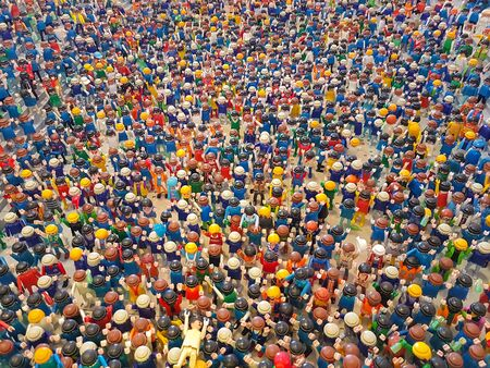 Athens, Greece 19 March 2017.Hundreds of playmobils in an exhibition of the game.