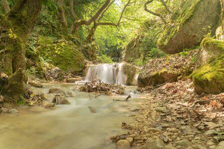 Waterfall at Kerasitsa in Arkadia in Greece.