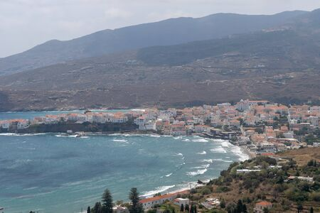 Andros island in Greece. View from the top.