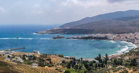 Andros island in Greece landscape.