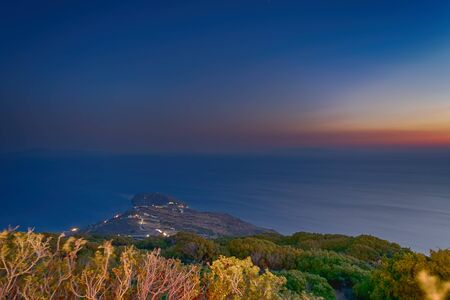 Dusk hour at Andros island in Greece. A beautiful landscape.Dusk hour at Andros island in Greece. A beautiful landscape.