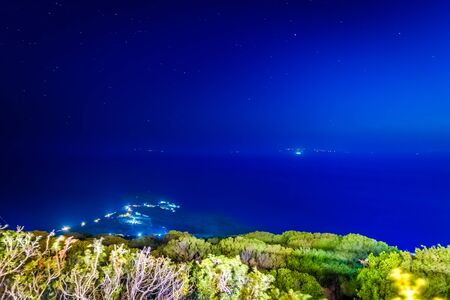Blue hour at Andros island in Greece.