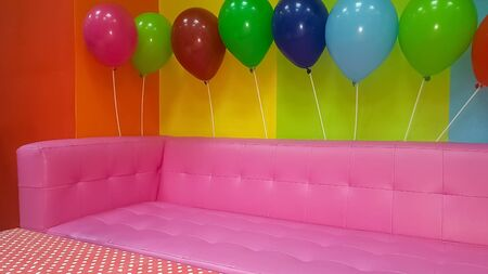 Colorful party decoration with balloons.