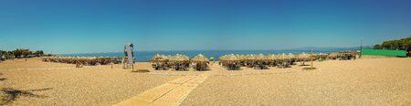 Kiparissia Kalo nero beach in Peloponnese in Greece.
